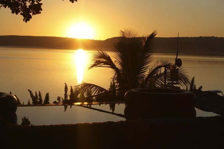 Sunset from Nbanga Lodge in Bilene, Mozambique. By far, my favourite sunset of all time.