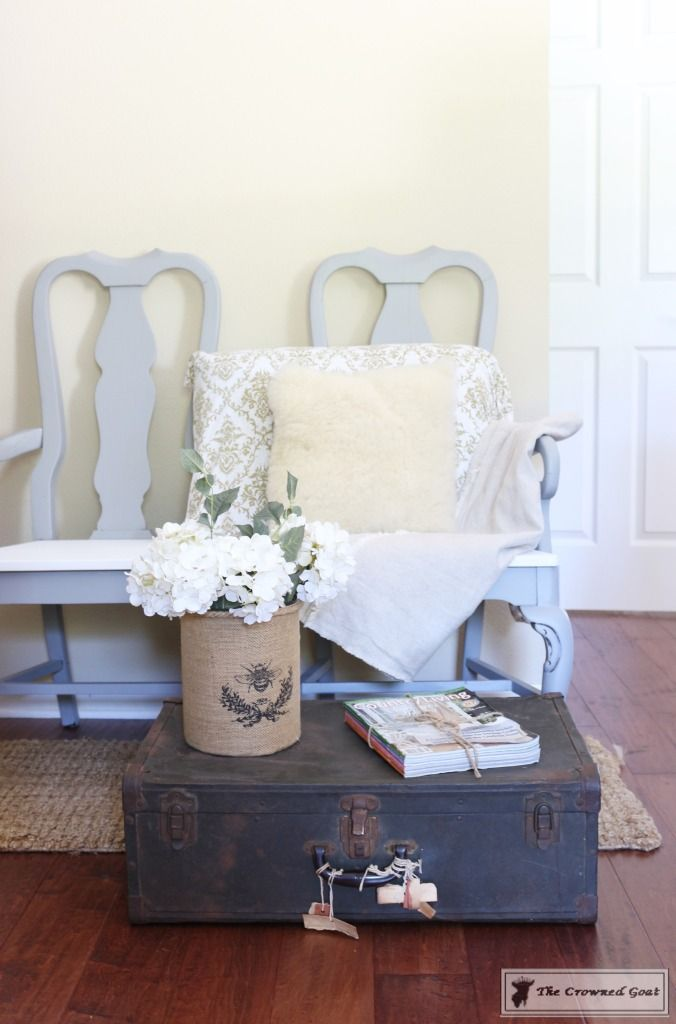 Creating a Bench from Dining Chairs - The Crowned Goat