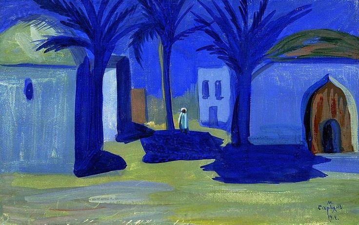 La noche egipcia, 1912 - Martiros Saryan (Armenia, 1881 a 1972)