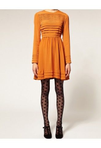 : Gipsy Big, Style, Orange Dresses, Big Spots, Spots Tights, Outfit, The Dresses, Polka Dots Tights, Polkadots