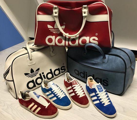 Vintage Adidas Gazelle and Peter Black holdalls | Sac, Chaussure ...