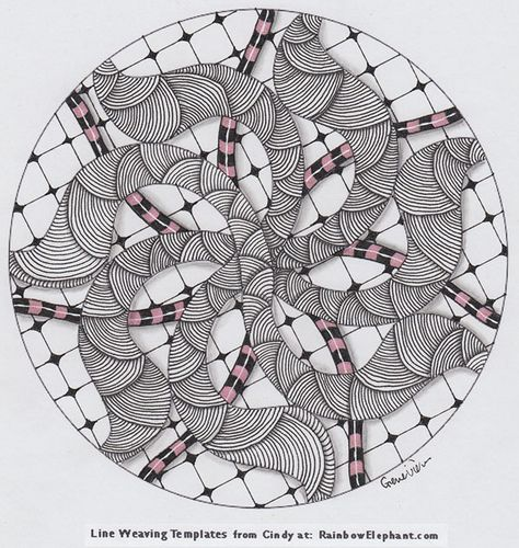love this tangle from Genevieve Crabe