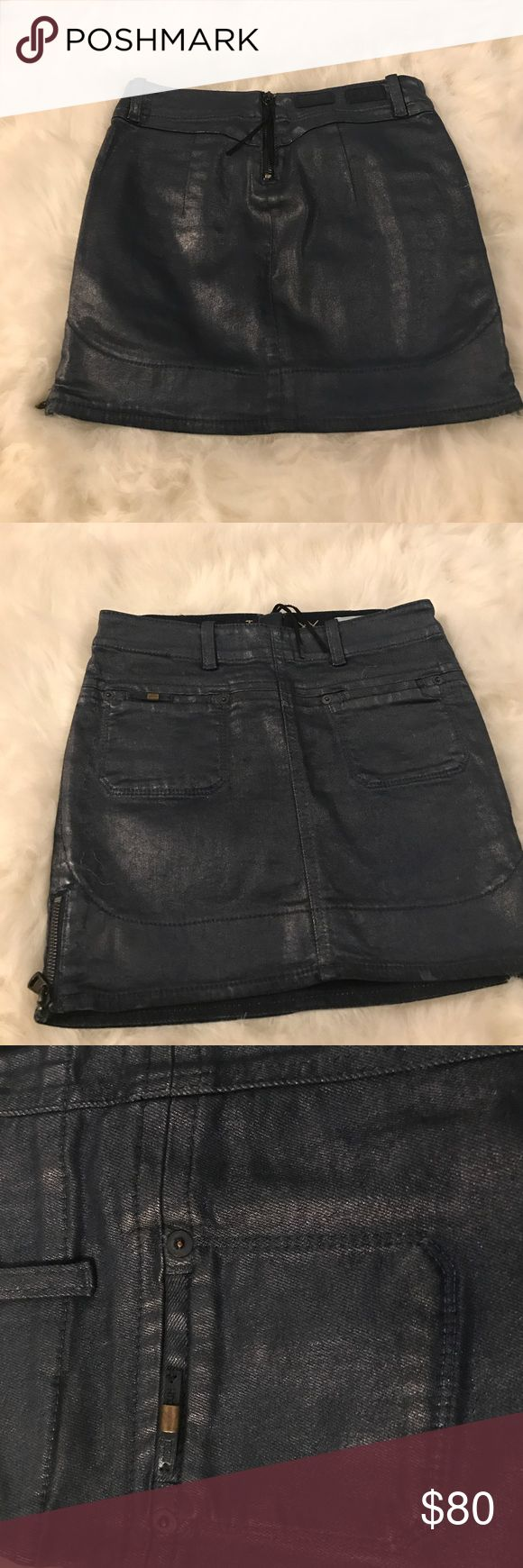 Diesel denim mini skirt Limited edition diesel mini skirt. New without tag. Only tried on once at home but feel a little short for my usual style. Bought in Italy. Two back pockets and two side zip. You can style as you want. Details show quality. Diesel Skirts Mini