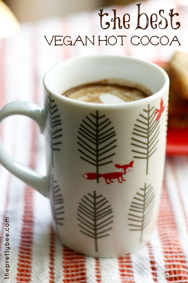 Easy recipe for the best vegan hot chocolate. Rich, decadent and delicious!