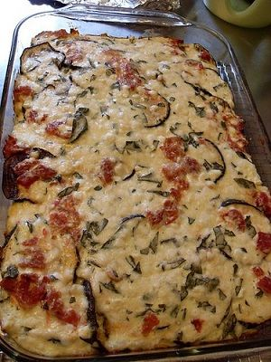 Only WW 18 pts FOR THE ENTIRE CASSEROLE - vegetarian recipe for eggplant casserole - just make sure your sauce is flavorful because no other spices are added