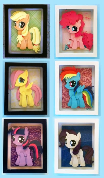 Amazing 3D paper crafted ponies :)