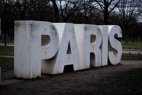 'Paris'. #typography #sculpture #installation