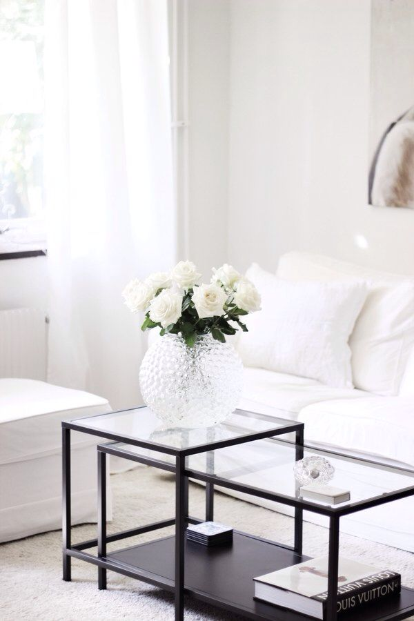 Ikea Vittsj Coffee Table In White Living Room
