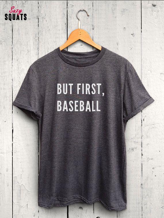 But First Baseball T Shirt Baseball Fan Shirt by SuzySquats