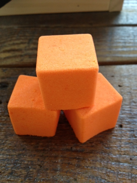 Little square fizzes with a hint of juicy orange