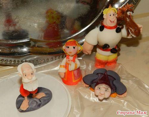 Ну собсна и он! Торт на тему мультика про нашинских богатырей - Алешу Поповича!