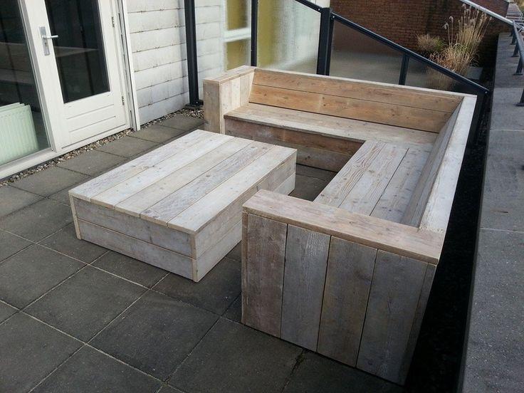 Loungebank Frederique van steigerhout