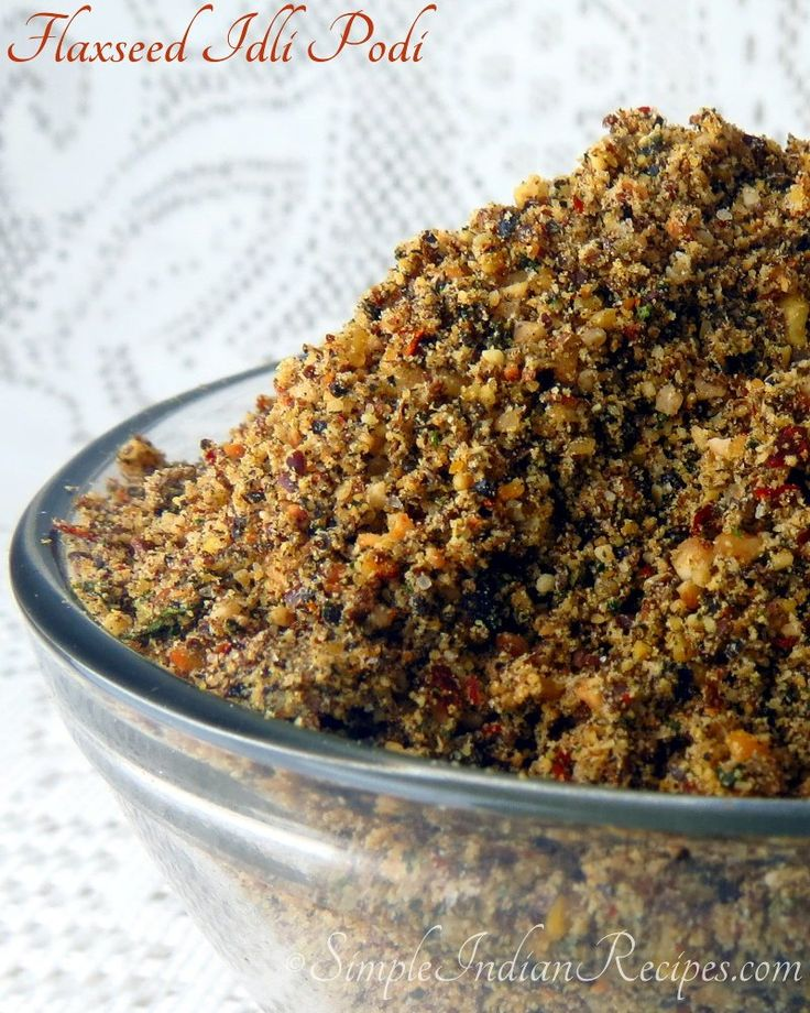Flax Seed Kaaram: South Indian idli podi made with flaxseed @ http://simpleindianrecipes.com/Home/Flaxseed-Idli-Podi.aspx