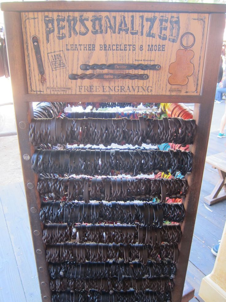 Personalized Leather Bracelets - A Disneyland Resort Must-Have ...