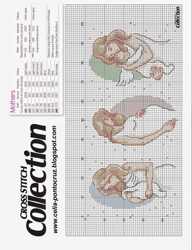 Ponto cruz: Dia das Mães gráficos ponto cruz - Parte #2