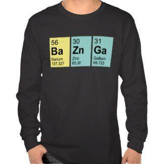 BaZnGa Elements symbols, Unisex Fit Tee
