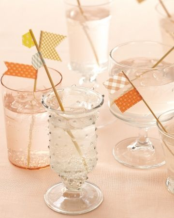 Super easy, DIY, Washi Tape cocktail stirrers will add the perfect amount of charm to any drink!