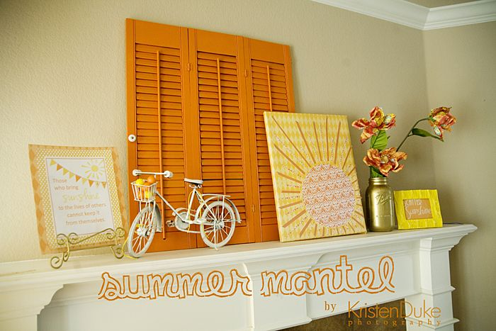 love this summer mantel