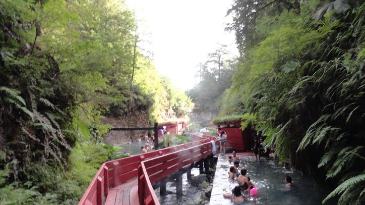 Thermal water, South of Chile.  Termas Geométricas, sur de Chile