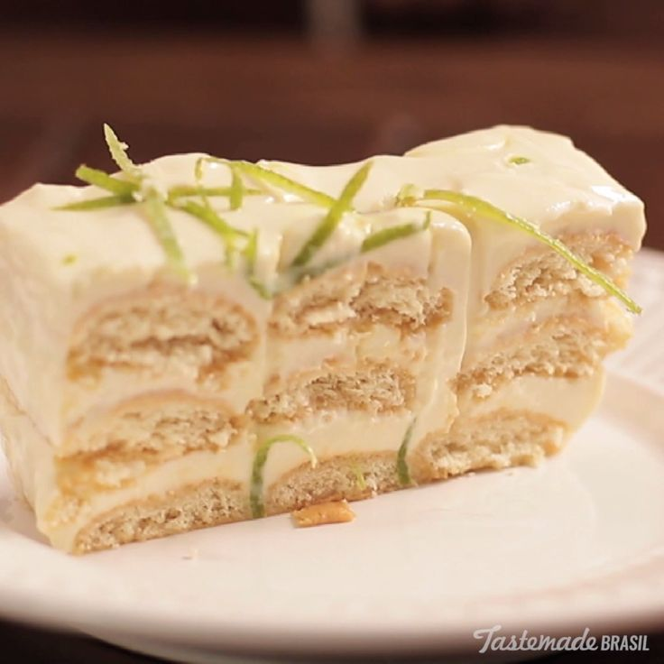 Add more zest to your life with this creamy lemon dessert terrine.