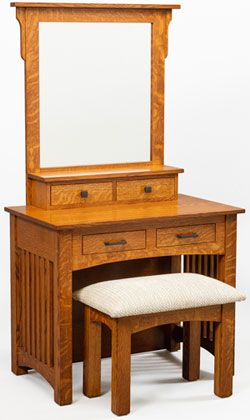 """33% OFF Amish Furniture: 36"""" Mission Dressing Table: Oak - Table"""