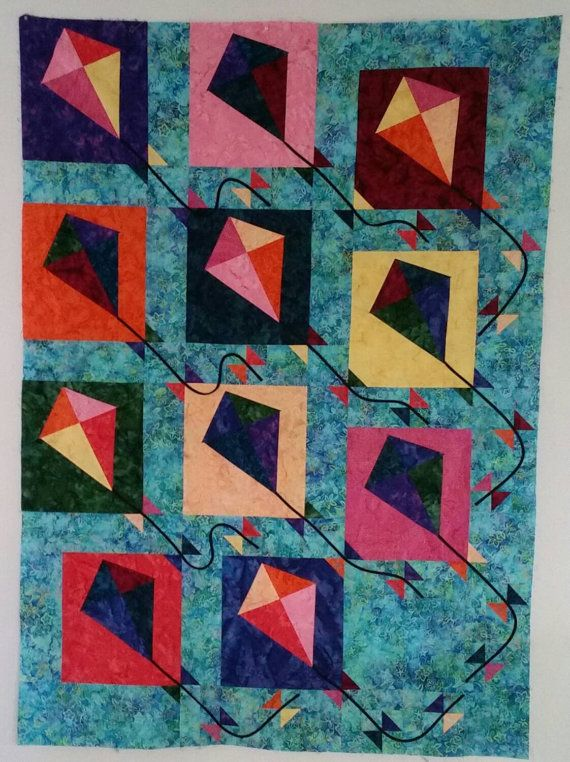 Buggy Barn Kites 51 x 71 by MaterialPursuit on Etsy