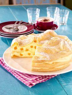 Brandteigtorte mit Aprikosenfüllung - Eine cremige Torte mit Aprikosen für warme Tage