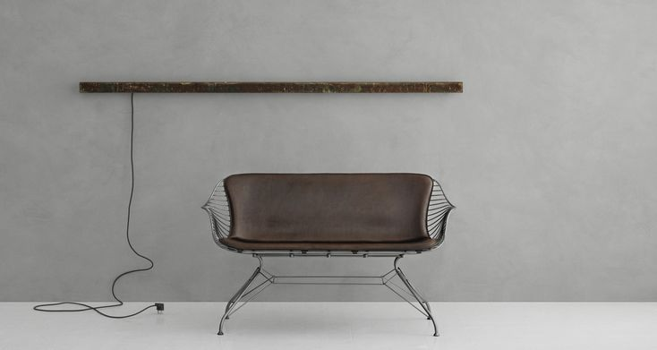 anourcph #anour #alight #danishdesign #rustedsteel #ledlamp  A picture of our wall mounted I_model in rusted steel surface, accompanied by the beautiful wire lounge sofa from Overgaard & Dyrman. Styling by @kateimowood and photography by Jeppe Sørensen. Walls by @kabecopenhagen @overgaard_dyrman @kabecopenhagen