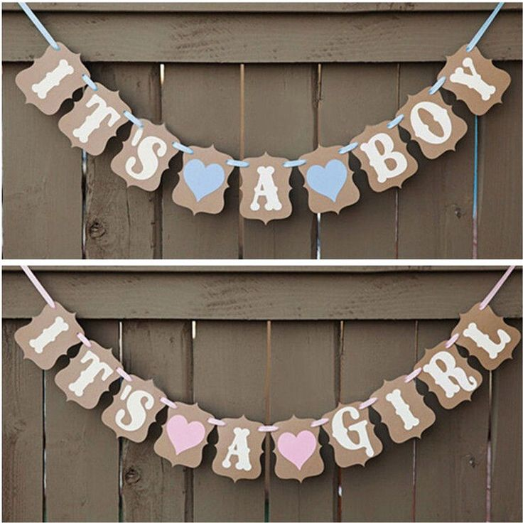 It's A Girl/Boy Baby Shower Bunting Party Banner Garland Photo Props Decor Sign in Baby, Maternity/ Pregnancy, Baby Showers | eBay