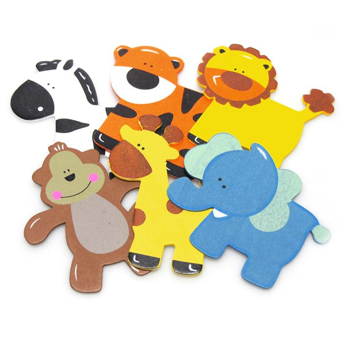 Assorted Wooden Animals Baby Favors, 5-inch, 6-pack
