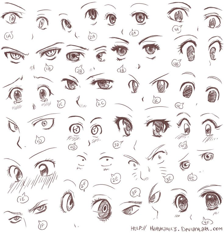 Anime eye expressions | Drawing tutorials | Pinterest ...