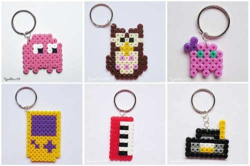 hama bead patterns key chains!