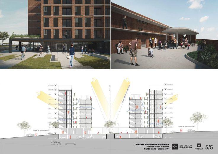 Premiados – Edifícios de Uso Misto em Santa Maria – CODHAB-DF | concursosdeprojeto.org