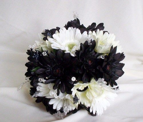 white and black wedding flowers - Google Search