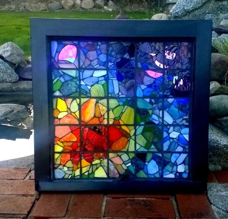 430 best mosaic window frames images on mosaic