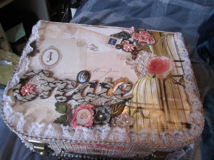 altered suitcase top