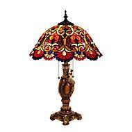 60W+Tiffany+Skrivebordslamper+,+Trekk+for+Øyenbeskyttelse+,+med+Maleri+Bruk+På/Av+Bytte+om+–+NOK+kr.+41.855