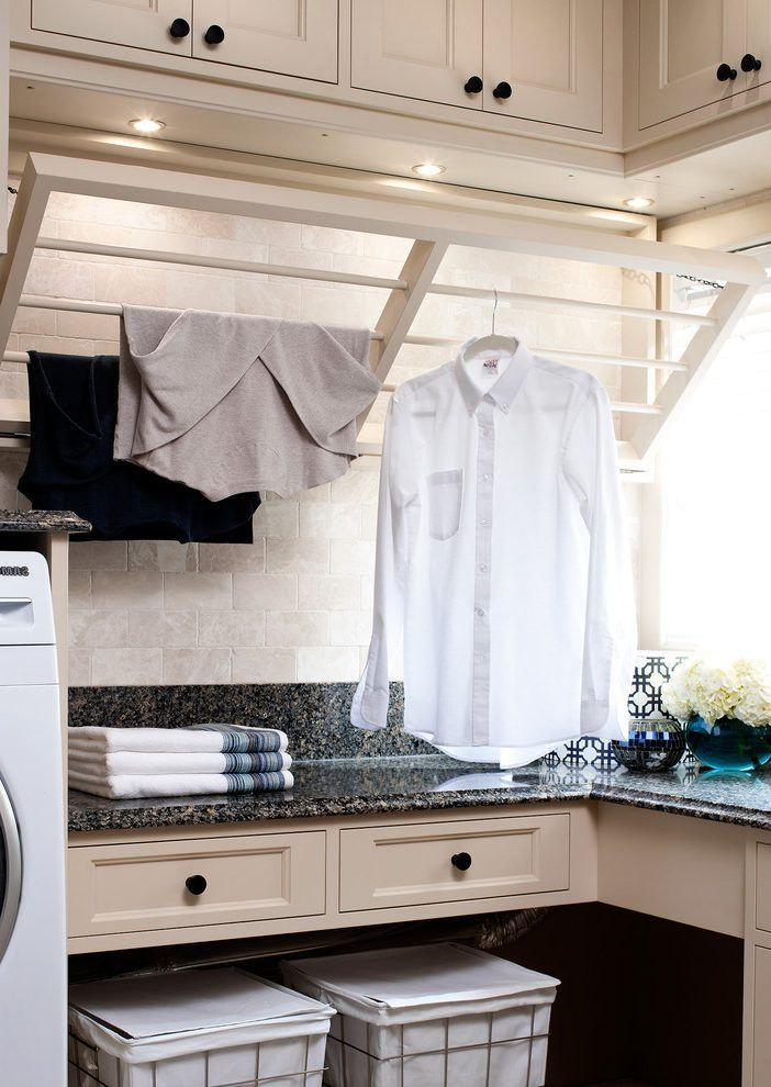 Laundry Room Drying Rack Ideas Laundry Room Traditional With Pull