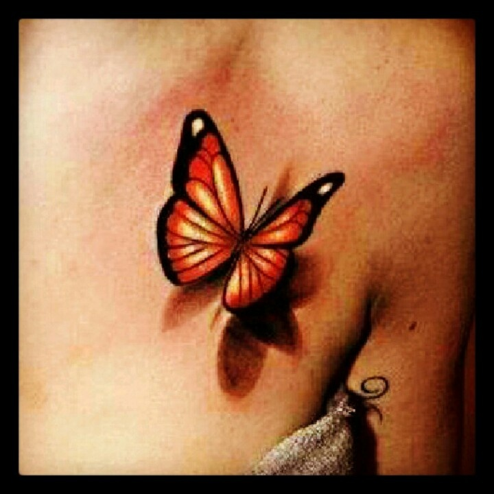 my next tattoo 3d butterfly tattoo tattospiration pinterest. Black Bedroom Furniture Sets. Home Design Ideas