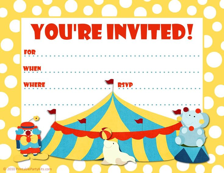 Best 25+ Circus party invitations ideas on Pinterest   Circus ...