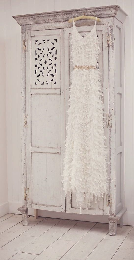 Shabby Chic Wardrobe Armoire Bedroom Furniture Ideas Romantic Look