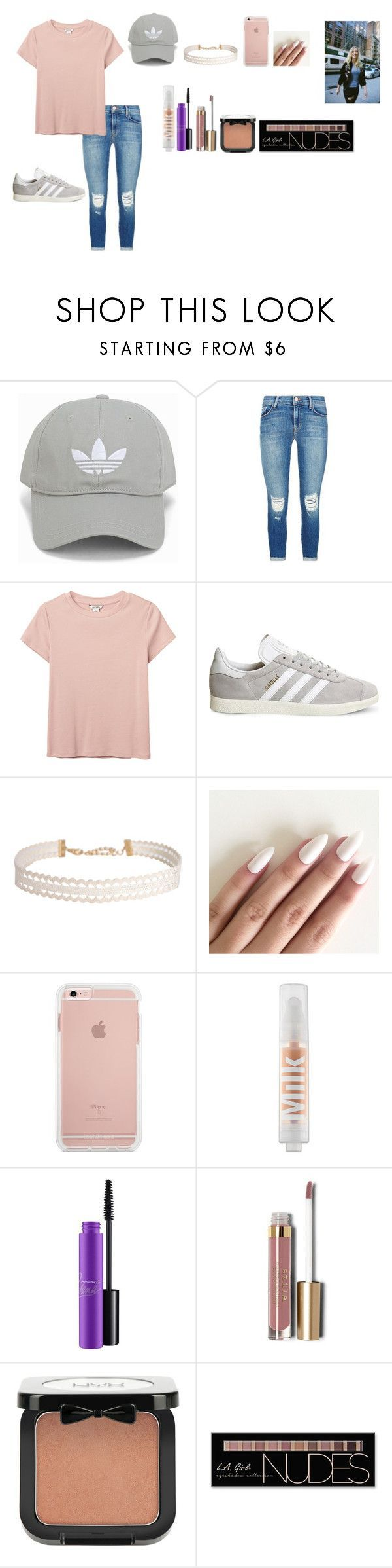 """Alisha Marie inspired outfit"" by emipooh ❤ liked on Polyvore featuring adidas Originals, J Brand, Monki, adidas, Humble Chic, MILK MAKEUP, MAC Cosmetics, Stila, NYX and Charlotte Russe - Tap the pin if you love super heroes too! Cause guess what? you will LOVE these super hero fitness shirts!"
