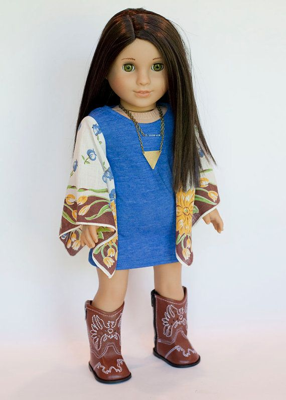 American Girl Doll outfit  boho tunic and by EverydayDollwear
