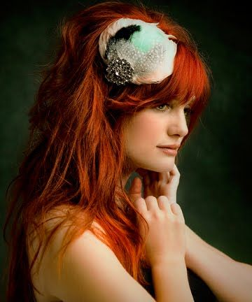 Copper Red HairHair Colors, Copper Red Hair, Haircolor, New Hair, Hair Accessories, Redhair, Feathers, Stylish Hair, Vintage Style