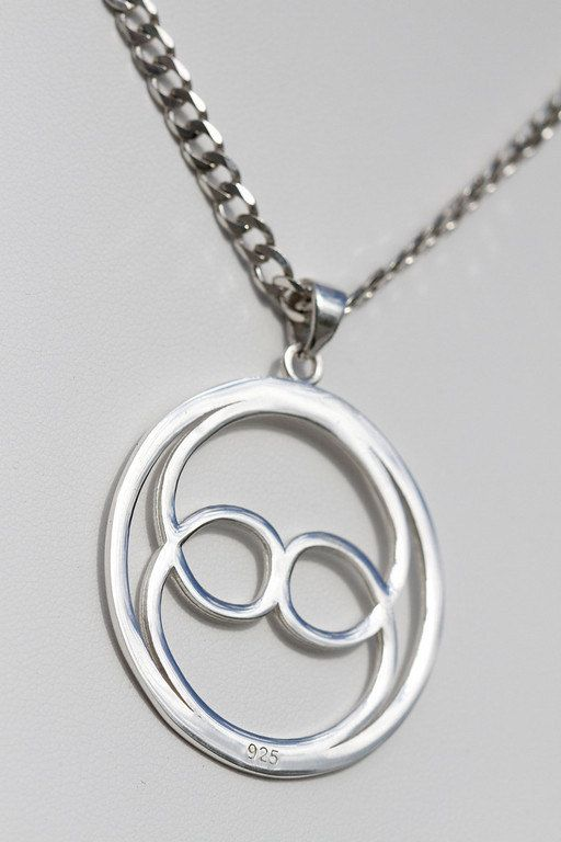 Wear this necklace to support your belief in the perception of Oneness with others and with the universe  |||  Intuition Large Silver Pendant Necklace by ONENESSSYMBOL on Etsy, $79.00