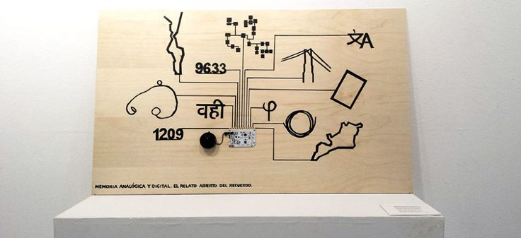 This Touch Board interactive interface explains how the analogue and digital memory is connected and an't be found only on the NET.