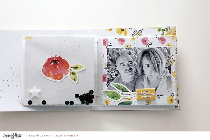 Scrapbook Inspiráció ❯❯❯ Egy aprócska szeretetkönyv, ami sokat jelent és sokat ad.  Te kinek készítenél hasonlót szíved szerint? ❯❯❯ https://scrapfellow.com/galeria/tagi/283/projekt/1816  Alkotó: Bozsits Kriszti