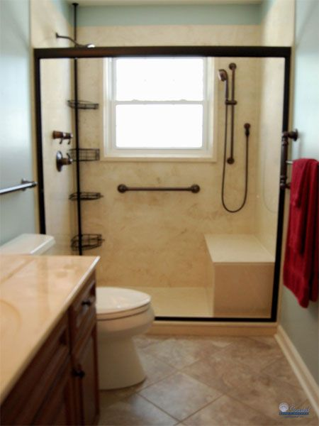 17 best ideas about handicap bathroom on pinterest for Bathroom ideas layout