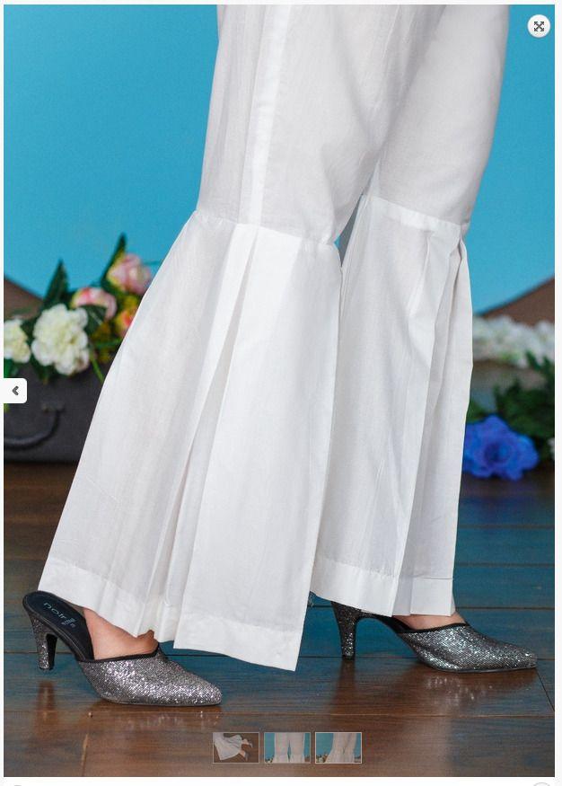 New Indian Pakistani Box Plate Gharara Pant Cotton Ladies