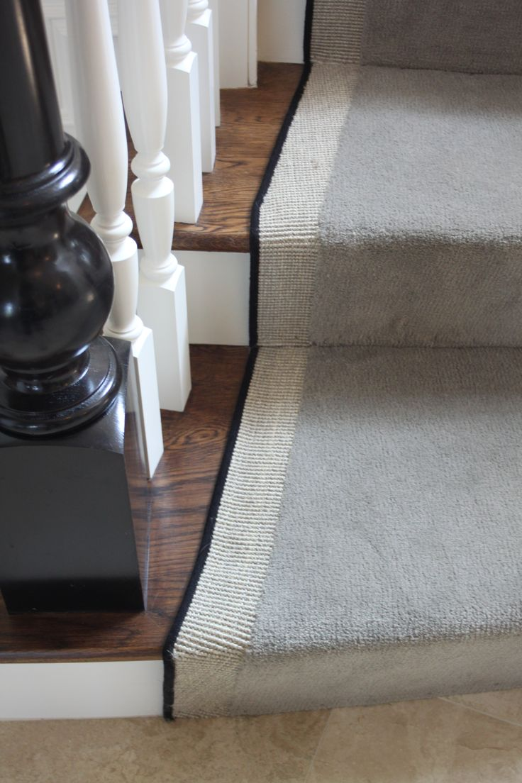 Navy greek key rug transitional entrance foyer libby langdon - Decor Your Stairs Using This Beautiful Carpet Runners For Stairs Wooden Stairs With Grey Carpet Runners For Stairs And Tile Floor For Contemporary Stairs